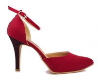 Kylie Wine Red Silk Dinner Shoes