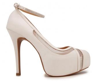 Caroline Ivory White Satin Wedding Shoes(Ready Stock)