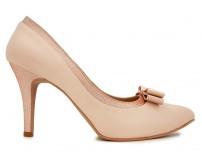 Lola Beige Satin Wedding Shoes