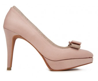 Lola Nude Pink Satin Wedding Shoes(Ready Stock)