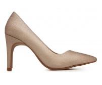 Rachel Rose Gold Glitter Dinner Shoes (Ready Stock)