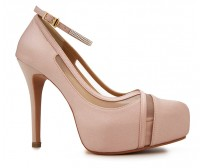 Caroline Nude Pink Satin Wedding Shoes (Ready Stock)