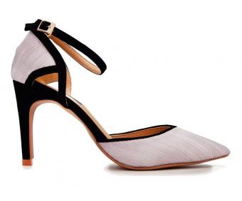 Grace Lavender Glitter Contrast  Wedding Shoes