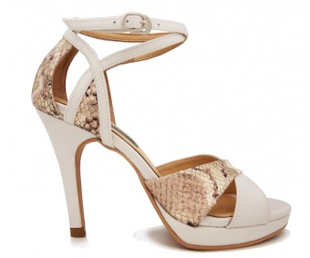 Liliana White Leather Sandals