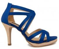 Opal Blue Silk Dinner Sandals