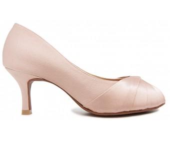 Irene Nude Pink Satin Wedding Shoes