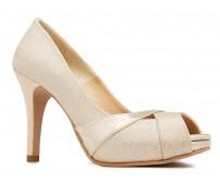 Abigail Gold Glitter Wedding Shoes