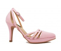 Eunice Pink Satin Wedding Sandals