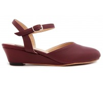Julia Wine Red Leather Casual Shoes