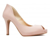 Roxanne Nude Pink Satin Dinner Shoes