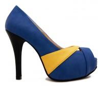 Abigail Blue Multi-Coloured PU Working Shoes