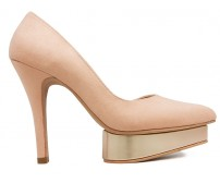 Estelle Nude Pink Suede Contrast Dinner Shoes