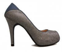 Violette Gun Metal Glitter Dinner Shoes (Ready Stock)