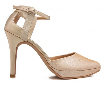 Ulrica Gold and Champagne Wedding Sandals