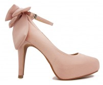 Arlenne Nude Pink Satin Wedding Shoes(Ready Stock)