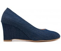 Tina Denim Wedges