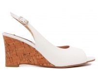 Claudia White PU Wedges