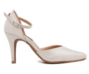 Vinnie Silver Glitter Wedding Shoes