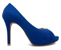 Caprice Blue Satin Silk  Dinner Shoes