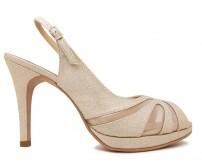 Alicia Gold Glitter Sling Back Dinner Shoes