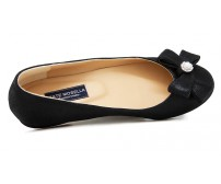Rainey Black Leather Casual Flats