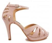 Miyu Beige Suede Sandals