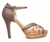 Lisa Copper Metallic PU Contrast Dinner Shoes