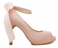 Danielle Nude Pink Satin Wedding Shoes(Ready Stock)
