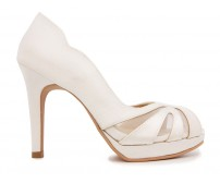 Lauren Ivory White Satin Wedding Shoes