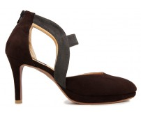 Katya Grey and Brown Suede Casual Sandals