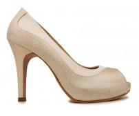 z Ariel Gold Glitter Dinner Shoes (Ready Stock)