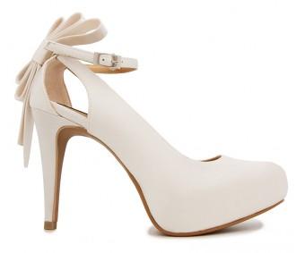 Ellen Ivory White Satin Wedding Shoes(Ready Stock)