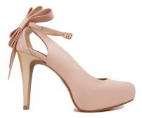 Ellen Nude Pink Satin Wedding Shoes(Ready Stock)