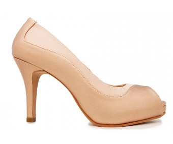 Ariel Rose Gold Metallic PU Dinner Shoes