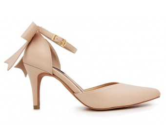 Sabella Champagne Satin  Wedding Shoes