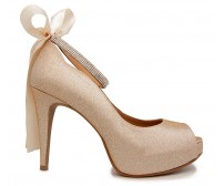 Freya Champagne Glitter Wedding Shoes (Ready Stock)