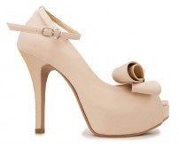 Brianna Champagne Satin Contrast Dinner Shoes (Ready Stock)