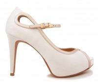 Gracie Ivory White Satin Wedding Shoes(Ready Stock)
