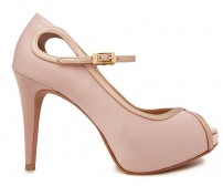 Gracie Nude Pink Satin Wedding Shoes(Ready Stock)