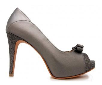 Colette Gun Metallic Metallic Contrast Dinner Shoes