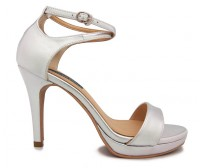 Doris Silver Metallic PU Wedding Sandals