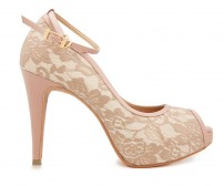 Cece Nude Lace Contrast Dinner Shoes (Ready Stock)