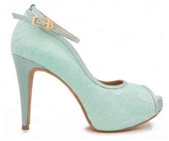 Cece Tiffany Lace Contrast Dinner Shoes (Ready Stock)