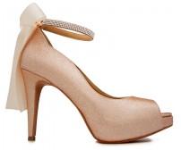 Freya Champagne Glitter Wedding Shoes (Ready Stock)