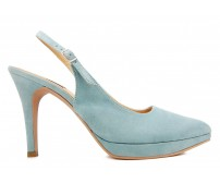 Patricia Sky Blue Suede Working Shoes