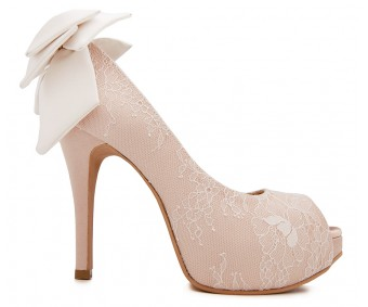 Alayna Nude Pink With Lace Wedding Shoes