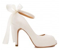 Ivy Ivory White Satin Wedding Shoes