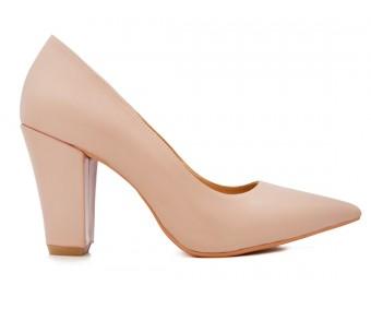 Sabrina Nude Sheepskin Leather  Shoes