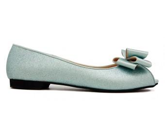 Eleanor Tiffany Blue Glitter Flats