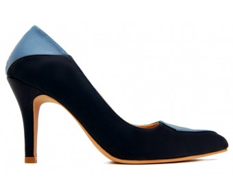 Collin Navy Blue PU With Sky Blue PU Contrast Shoes
